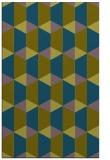 rug #1167547 |  blue-green retro rug