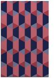 rug #1167563    blue-violet retro rug