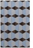 rug #1167579 |  blue-violet retro rug