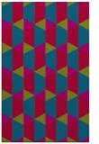 rug #1167591 |  blue-green retro rug