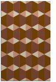 rug #1167619 |  mid-brown retro rug