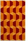 rug #1167679 |  red-orange retro rug