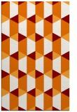 rug #1167683 |  orange retro rug