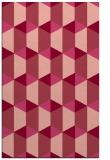 rug #1167703 |  pink retro rug