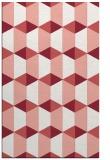 rug #1167707 |  pink retro rug