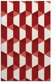 rug #1167735 |  red geometry rug