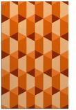rug #1167747 |  red-orange retro rug