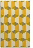 rug #1167787 |  yellow geometry rug