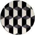 rug #1167843 | round black retro rug