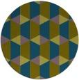rug #1167915 | round green geometry rug