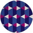 rug #1167939   round blue-violet retro rug