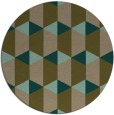 rug #1167951 | round brown retro rug