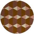 rug #1167987 | round mid-brown retro rug
