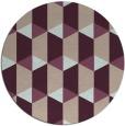 rug #1168003 | round pink rug