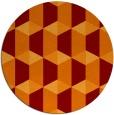rug #1168048 | round retro rug