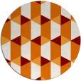 rug #1168051 | round orange retro rug