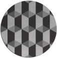 rug #1168059 | round red-orange retro rug