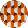 rug #1168123 | round red-orange retro rug