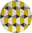 rug #1168163 | round yellow geometry rug