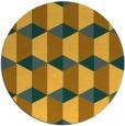 rug #1168167 | round light-orange rug