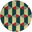 rug #1168171 | round yellow retro rug