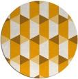 rug #1168191 | round light-orange retro rug