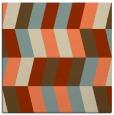 rug #1168791 | square orange retro rug