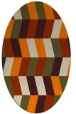 rug #1168943 | oval orange retro rug