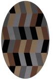 rug #1168951 | oval black retro rug