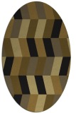 rug #1168963 | oval mid-brown rug