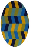 rug #1168975 | oval blue retro rug