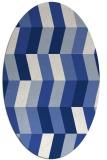 rug #1168991 | oval blue retro rug