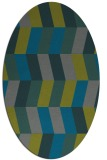rug #1169071 | oval blue-green abstract rug