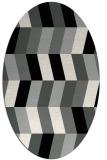 rug #1169087 | oval black retro rug