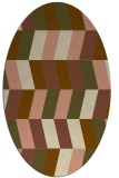 rug #1169091 | oval brown retro rug