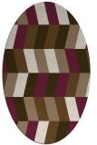 rug #1169099 | oval mid-brown retro rug