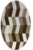 rug #1169103 | oval mid-brown rug