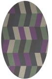 rug #1169128 | oval retro rug