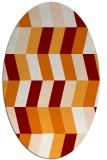rug #1169155 | oval orange abstract rug