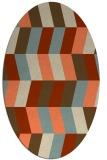 rug #1169159 | oval orange abstract rug