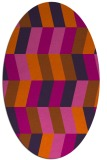 rug #1169223 | oval red-orange abstract rug