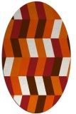 rug #1169227   oval red-orange rug