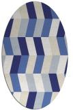 rug #1169239 | oval blue rug