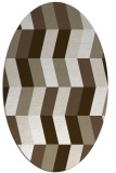 rug #1169255 | oval white abstract rug