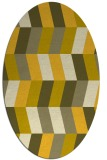 rug #1169259 | oval yellow retro rug