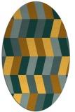 rug #1169271   oval yellow retro rug