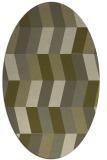 rug #1169291 | oval light-green abstract rug