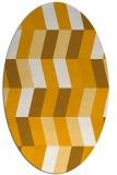 rug #1169295 | oval light-orange retro rug