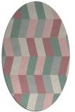 rug #1169299   oval pink abstract rug