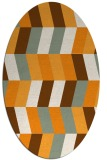 rug #1169303 | oval light-orange retro rug
